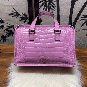 Prada Crocodile Embossed Handbag